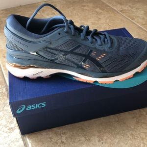 Asics Shoes - ASICS Gel Kayano 24 with Flytefoam. Smoke Blue.
